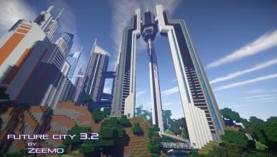 minecraft map ville future city 3.2