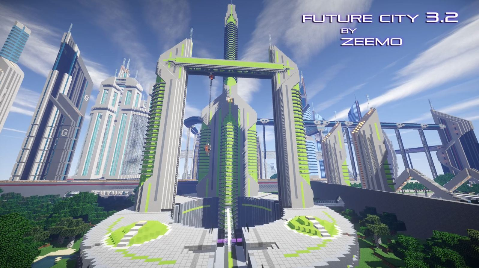 minecraft map ville future city 3.2 tour future