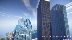 minecraft map ville world of worlds gratte ciel impresionnant