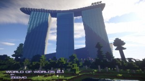 minecraft map ville world of worlds immense construction