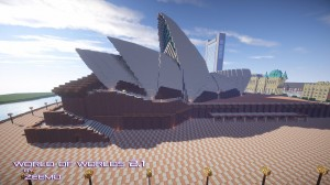 minecraft map ville world of worlds opéra australie