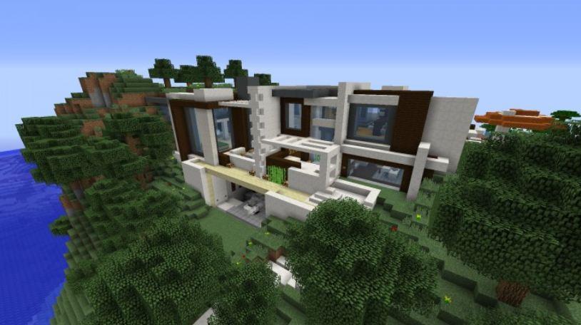Villa minecraft mon top 5 minecraft for Minecraft belle maison moderne