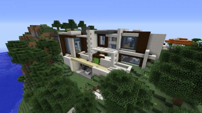 1.maison moderne smart house villa minecraft