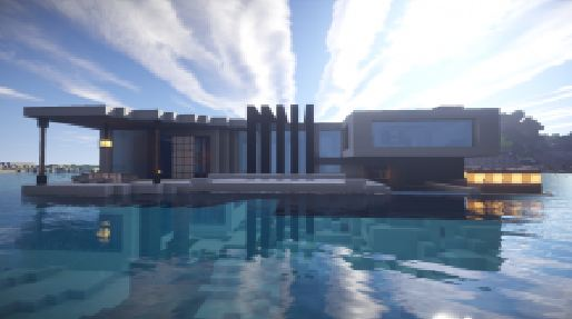 2.villa minecraft beach house