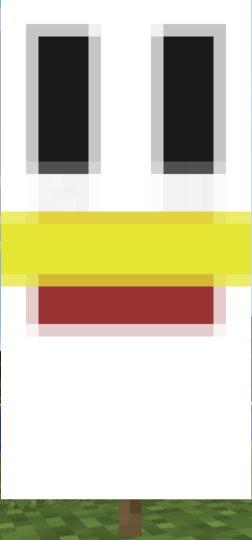 banner minecraft poulet