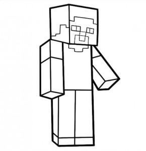 dessin minecraft personnage steve