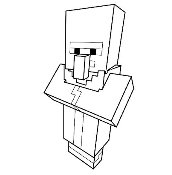 dessin minecraft personnage villageois : Minecraft ...