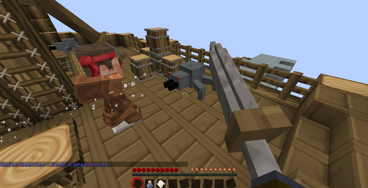 minecraft map aventure 1.9 française Dragon hunt confrontation
