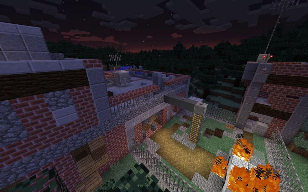 minecraft map survie 1.9 zombie settlement survie base des scientifiques après l'incident
