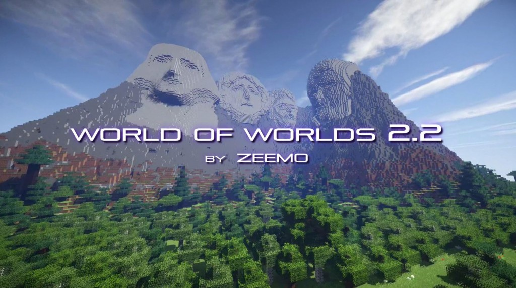 minecraft map world of world mont rushmore