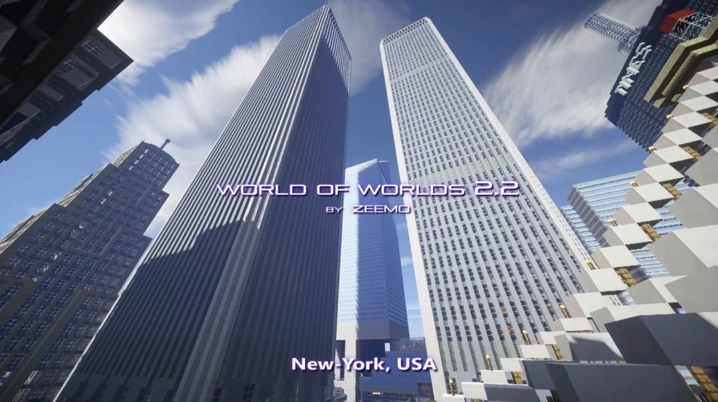 minecraft map world of world new-york