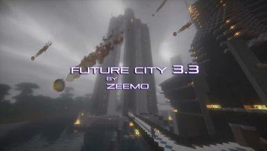 Minecraft map ville future city 3.3 astéroide