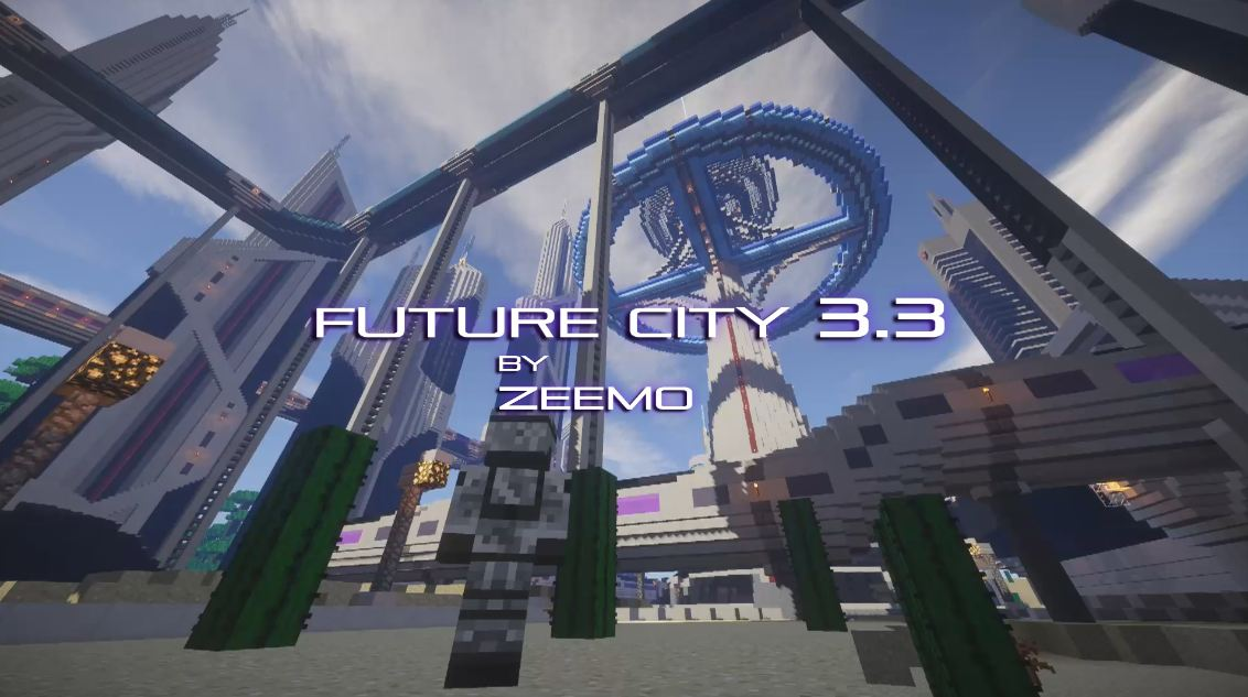 Minecraft map ville future city 3.3 place