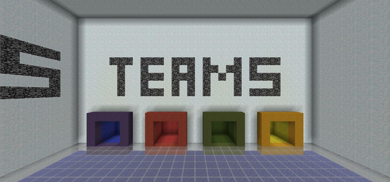 map minecraft 1.9 pvp Random Blocks choix de l'équipe