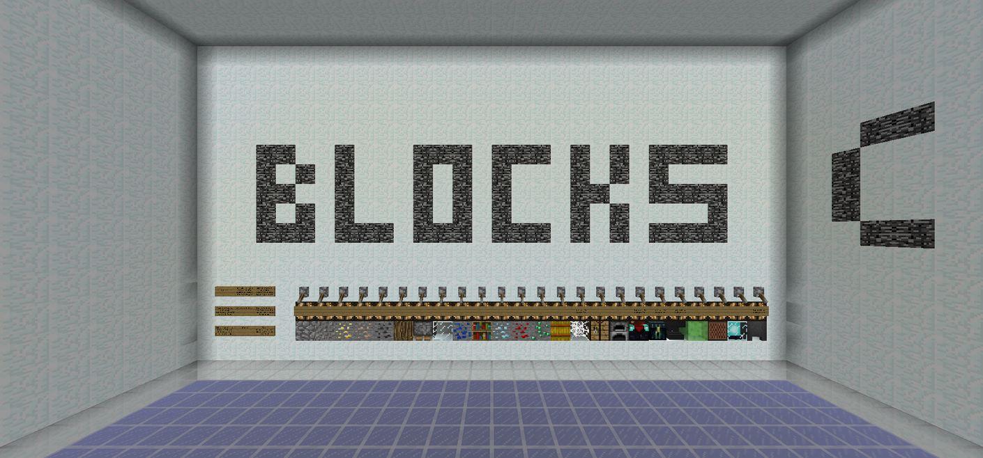 map minecraft 1.9 pvp Random Blocks choix des différents blocs