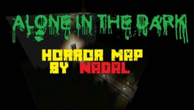 minecraft map horreur 1.8 alone in the dark