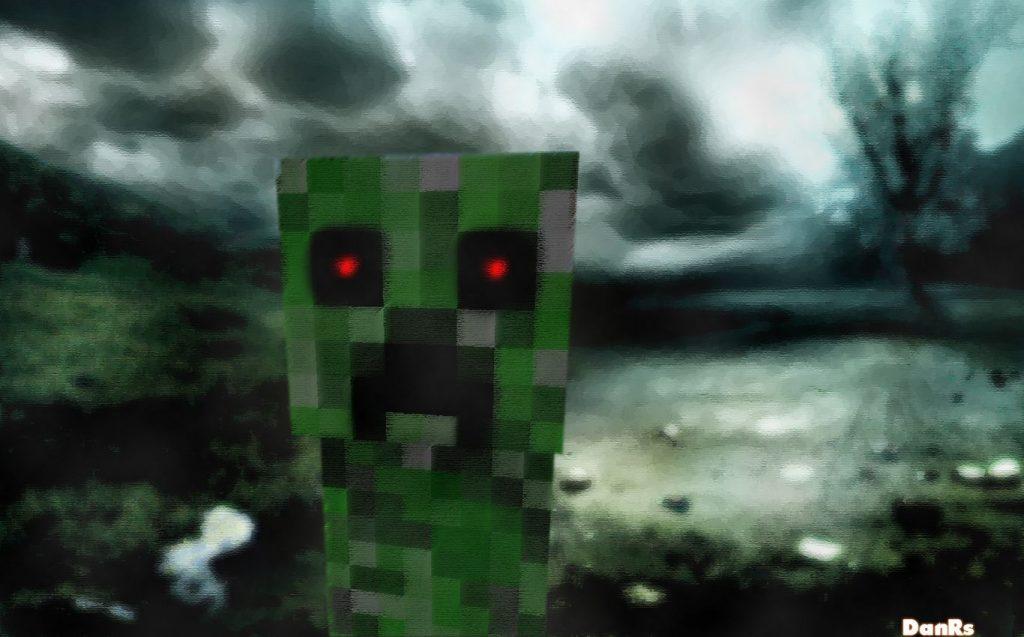 fond d'ecran minecraft creeper apocalyse
