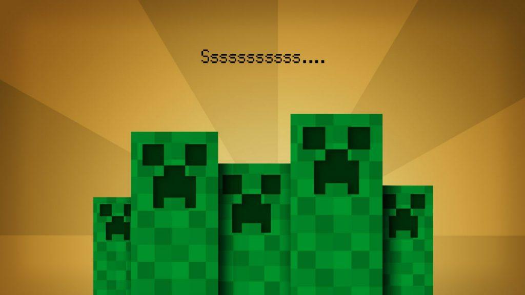 fond d'ecran minecraft creeper sssss