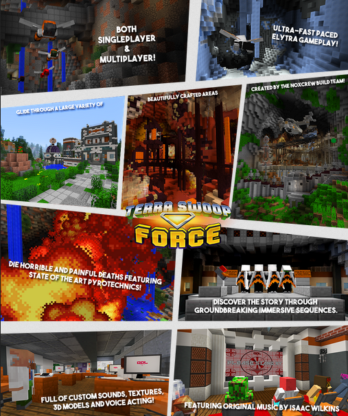 minecraft map aventure 1.9.2 terra swoop force photo