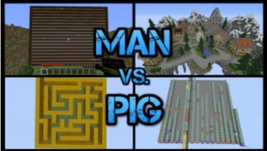 minecraft map jeux man vs pig