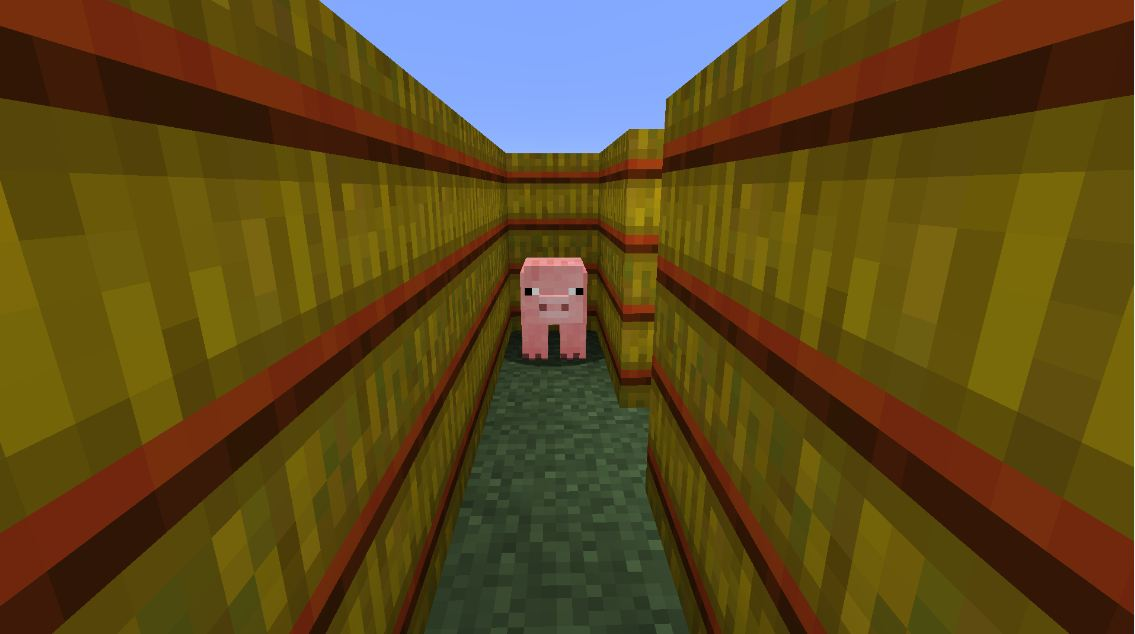 minecraft map jeux man vs pig hide and go pig