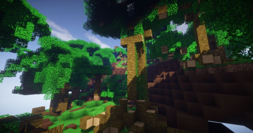 minecraft map survie tiki tiki island foret