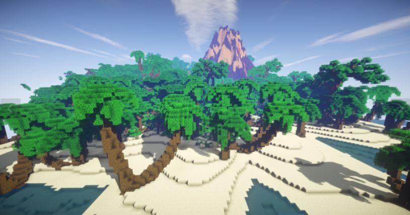 minecraft map survie tiki tiki island plage