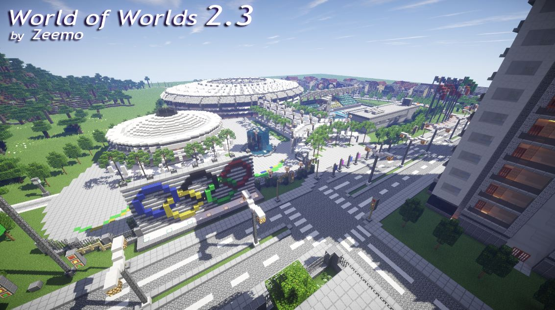 minecraft map world of worlds 2.3 jeux olympiques 2016