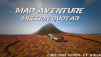 minecraft map aventure française mission quotar