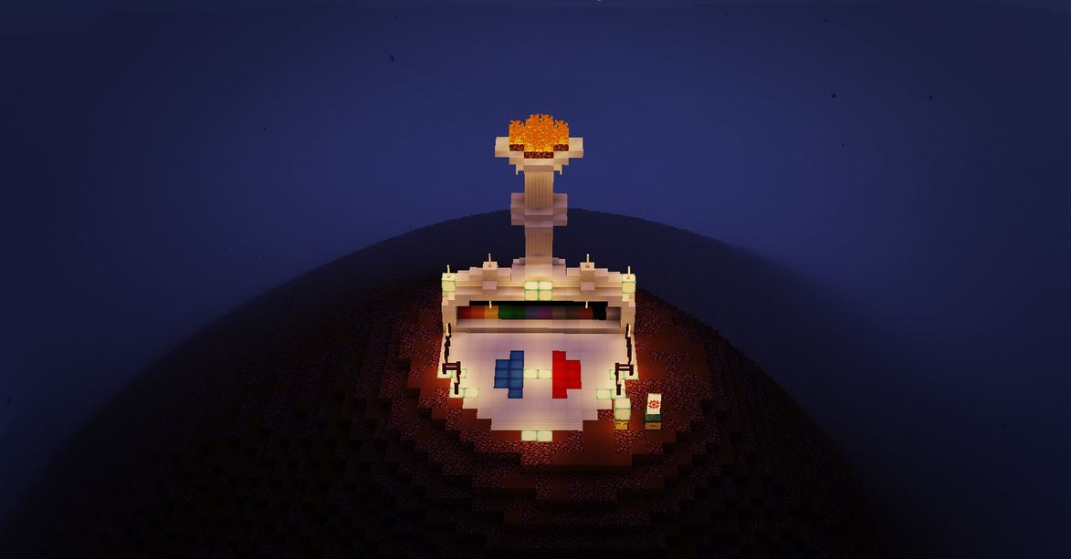 minecraft map aventure française mission quotar monument à drapeau