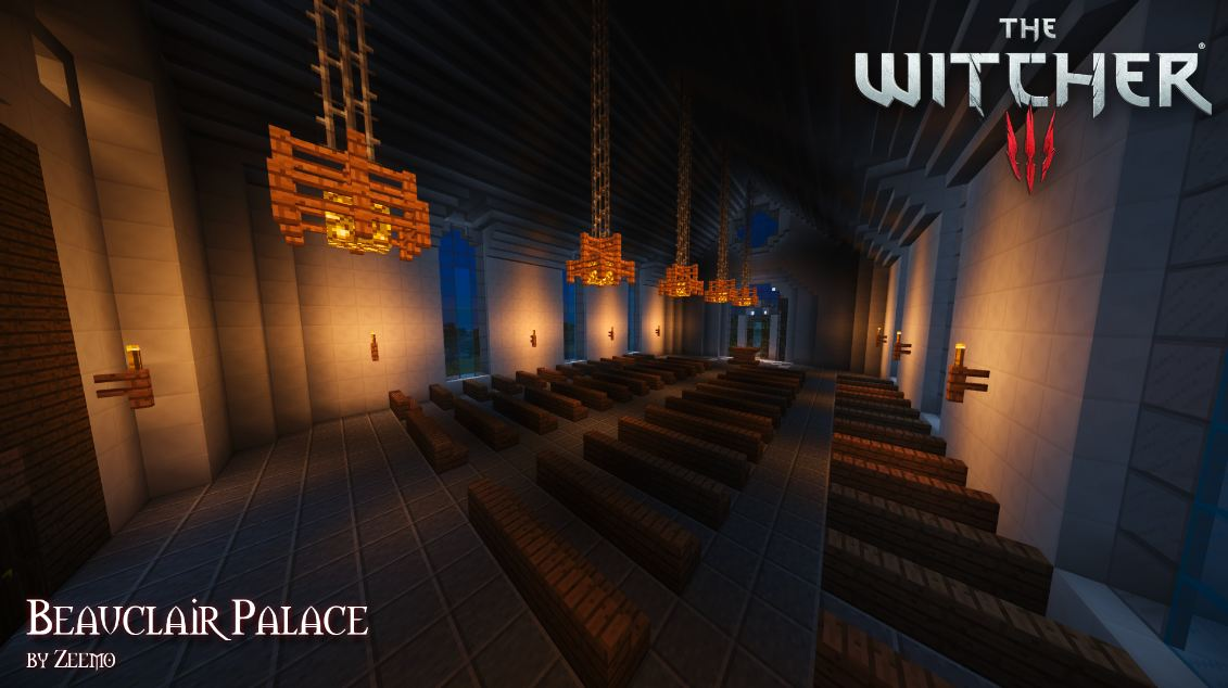 minecrafta map médiévale the witcher église