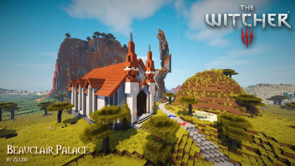 minecrafta map médiévale the witcher