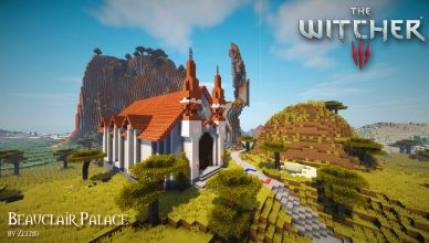 minecrafta map médiévale the witcher