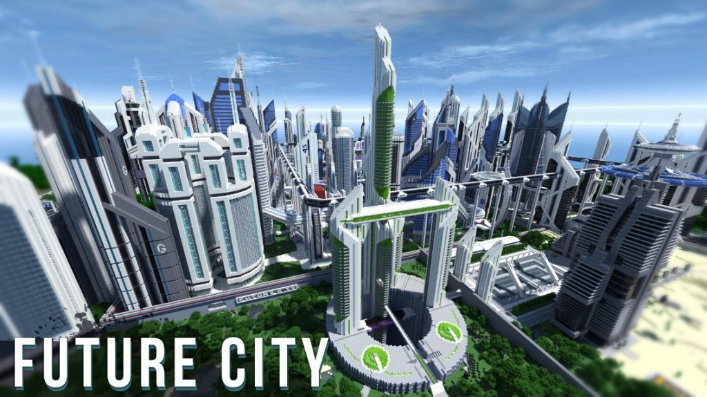map minecraft future city 3.4