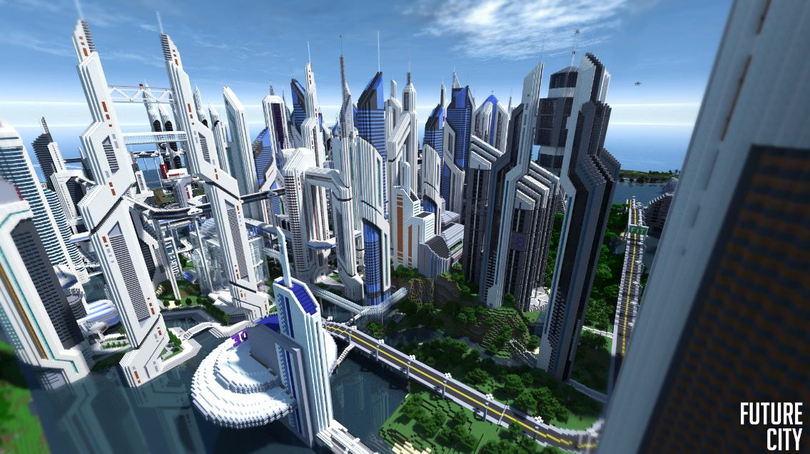 map minecraft future city 3.4 – immeuble