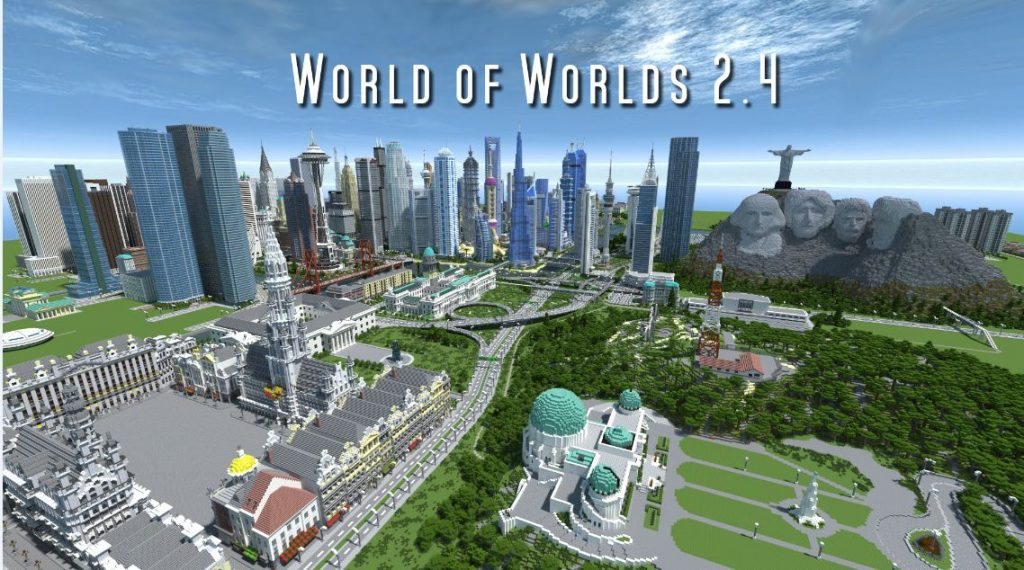 minacraft map ville world of worlds 2.4