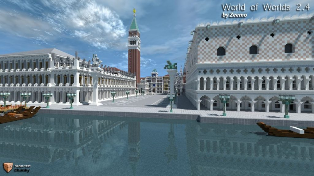 minacraft map ville world of worlds 2.4 venise