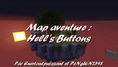 Minecraft map aventure Hell's Buttons