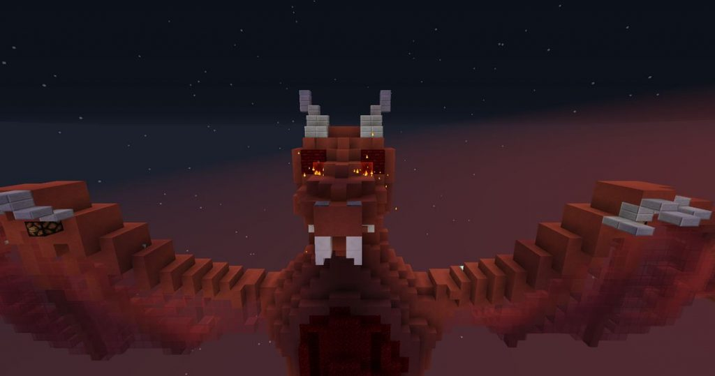Minecraft map aventure Hell's Buttons dragon