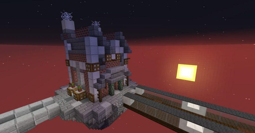 Minecraft map aventure Hell's Buttons maison
