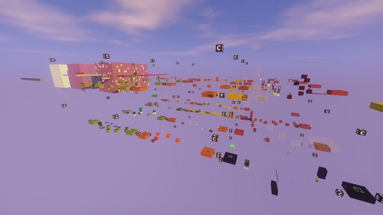 minecraft map jump 20 blocs systeme redstone