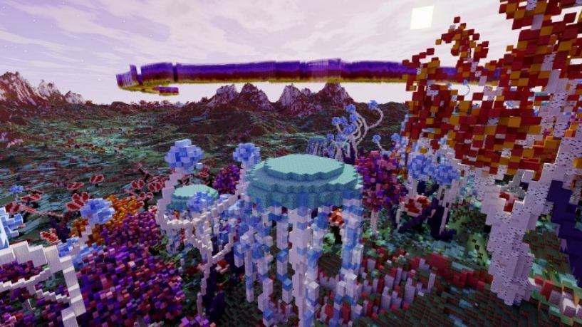minecraft map survie Tau Ceti e foret alien