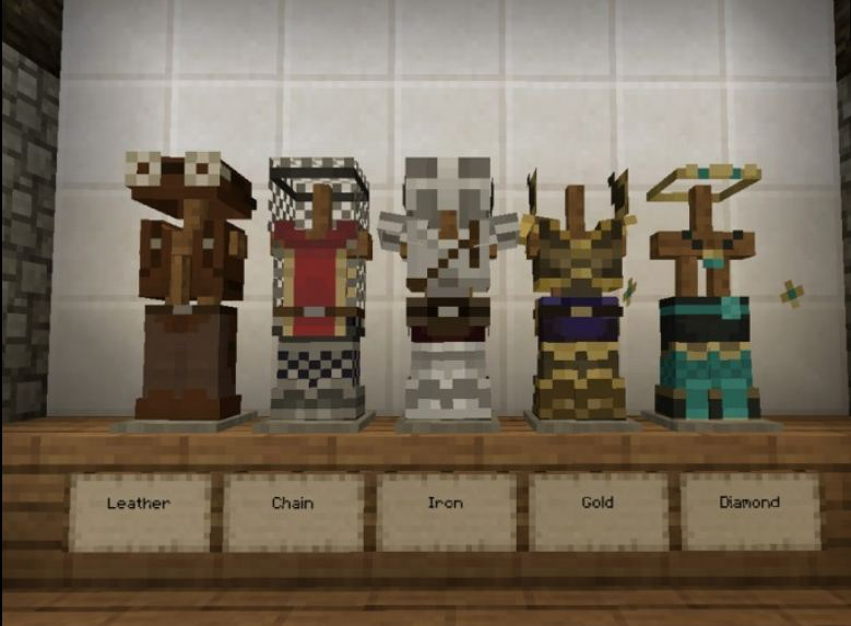 minecraft ressource pack 16×16 mizuno's 16 craft armure