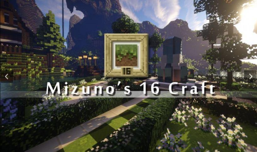 minecraft ressource pack 16x16 mizuno's 16 craft