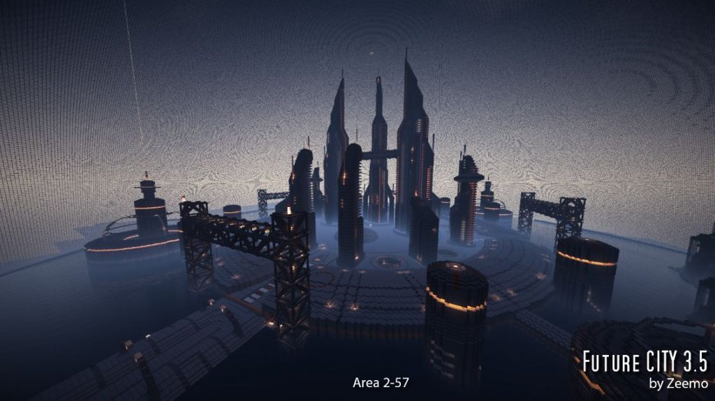 minecraft-map-ville-futur-city-3-5-area-2-57-de-nuit