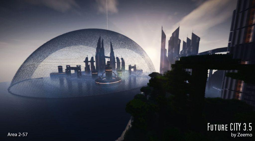minecraft-map-ville-futur-city-3-5-dome