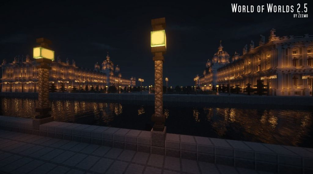 minecraft-map-ville-world-of-worlds-2-5-vue-de-nuit