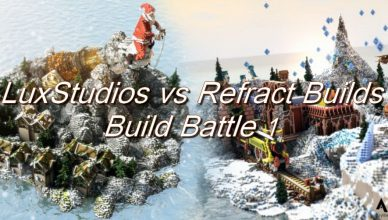 map minecraft build battle 1 luxstudios vs refract builds