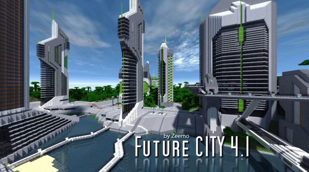 minecraft map ville future city 4.1