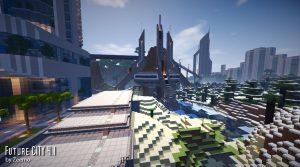 minecraft map ville future city 4.1 batiment